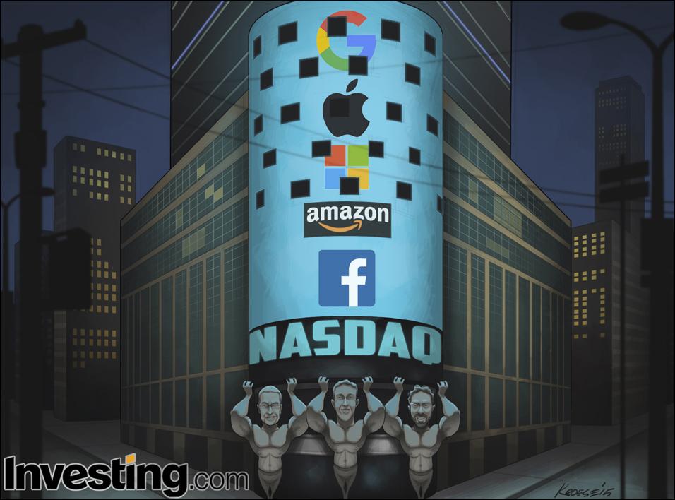 Τα κέρδη των μεγάλων της τεχνολογίας εκτοξεύουν τον Nasdaq